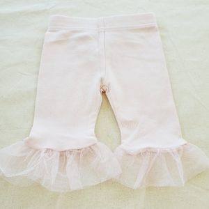 *7/$15* Girls pants with tulle size 6-9 months
